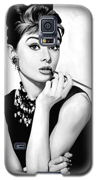 Audrey Hepburn Artwork Galaxy S5 Case by Sheraz A