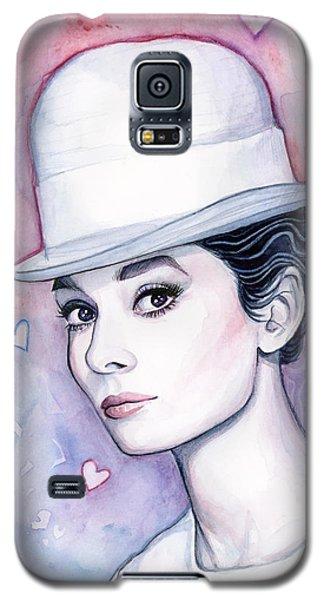 Audrey Hepburn Fashion Watercolor Galaxy S5 Case