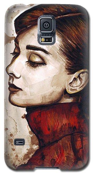 Watercolor Galaxy S5 Case - Audrey Hepburn by Olga Shvartsur