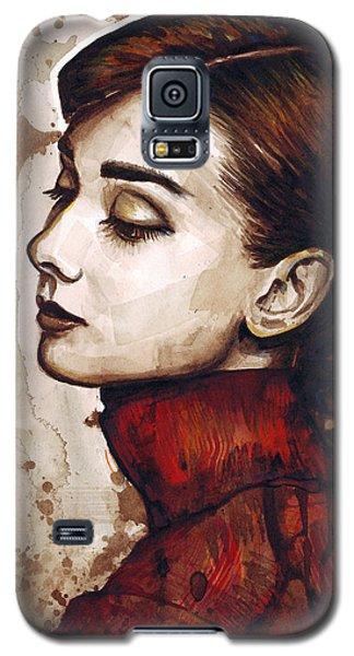 Audrey Hepburn Galaxy S5 Case by Olga Shvartsur
