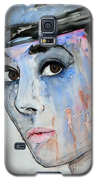 Audrey Hepburn - Painting Galaxy S5 Case by Ismeta Gruenwald