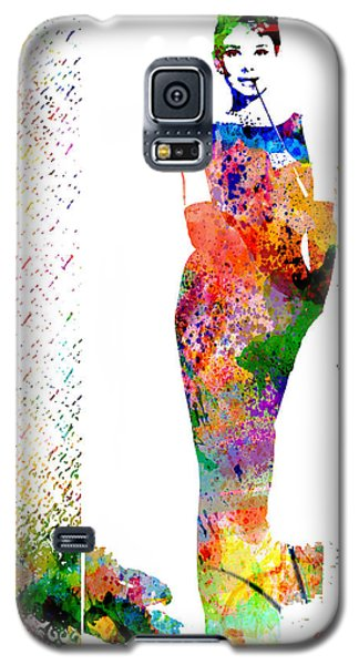 Galaxy S5 Case featuring the digital art Audrey Hepburn by Patricia Lintner