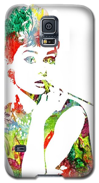 Audrey Hepburn - Watercolor Galaxy S5 Case