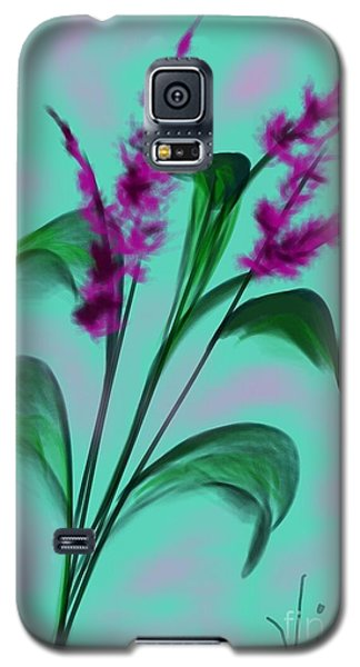 Galaxy S5 Case featuring the painting August Bouquet by Judy Via-Wolff