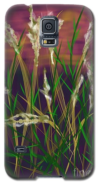 Galaxy S5 Case featuring the painting August Breath by Judy Via-Wolff