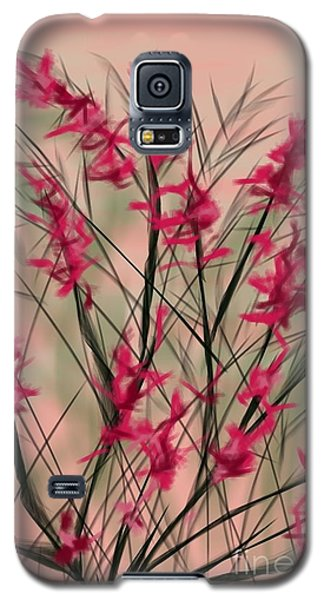 Galaxy S5 Case featuring the painting August Flowers by Judy Via-Wolff