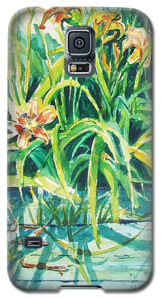 Galaxy S5 Case featuring the painting August Shadows by Joy Nichols