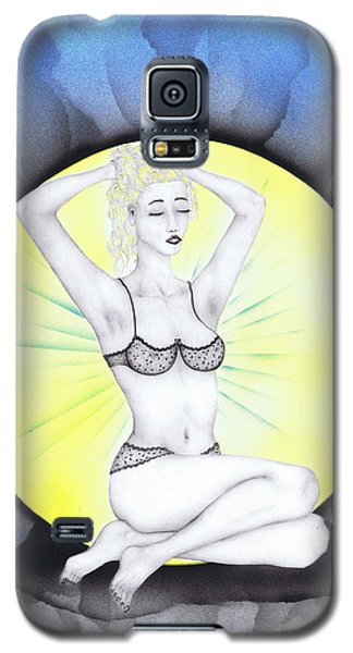 Galaxy S5 Case featuring the drawing Aura by Kenneth Clarke