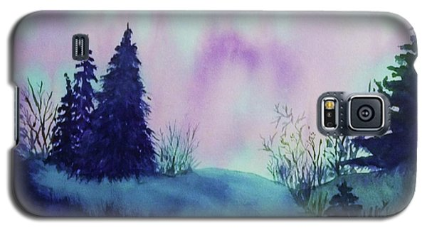 Galaxy S5 Case featuring the painting Aurora Borealis I by Ellen Levinson
