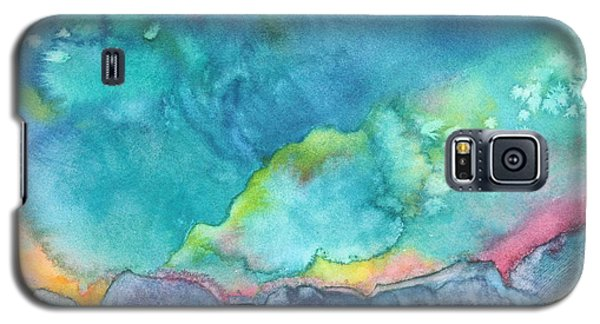 Galaxy S5 Case featuring the painting Aurora Borealis by Nancy Jolley