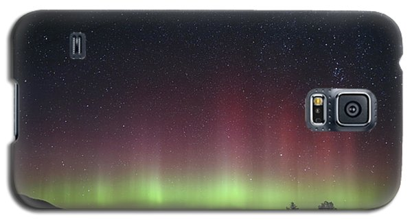 Aurora Borealis Over Glacier Np In Montana Galaxy S5 Case