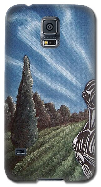 Galaxy S5 Case featuring the painting Aurora by Michael  TMAD Finney