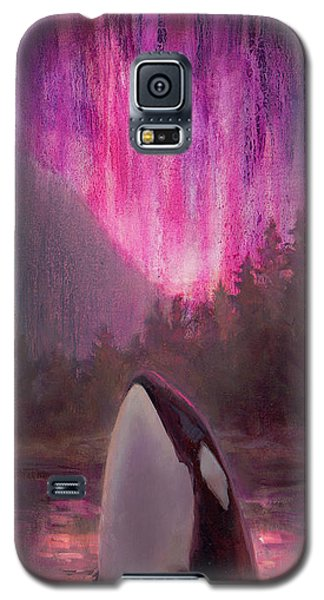 Orca Whale And Aurora Borealis - Killer Whale - Northern Lights - Seascape - Coastal Art Galaxy S5 Case