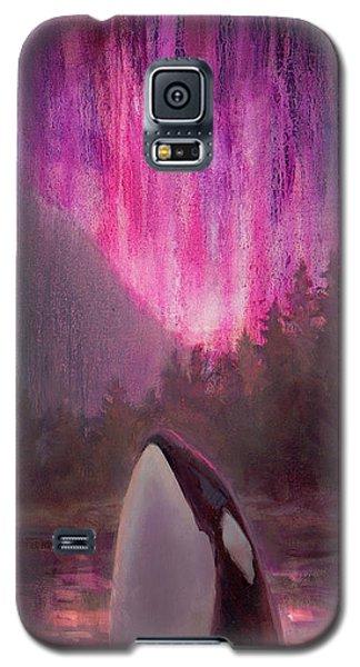 Orca Whale And Aurora Borealis - Killer Whale - Northern Lights - Seascape - Coastal Art Galaxy S5 Case