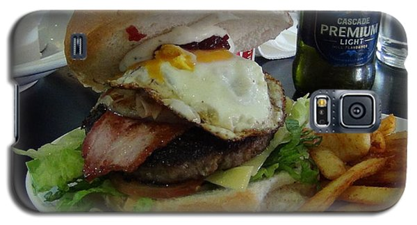 Galaxy S5 Case featuring the photograph Aussi Burger by Tony Mathews
