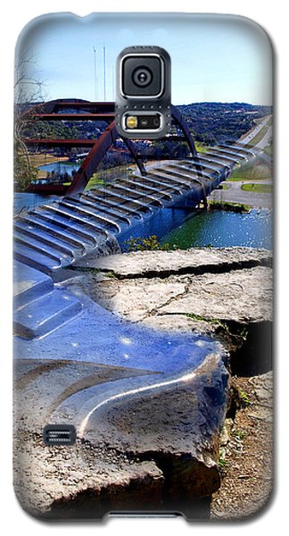 Galaxy S5 Case featuring the photograph Austin Bridge Of Music And Art by James Granberry