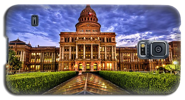 Galaxy S5 Case featuring the photograph Austin Capitol At Sunset by John Maffei