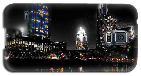 Austin Night Skyline Reflections  Galaxy S5 Case by Gary Gibich