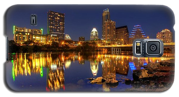 Galaxy S5 Case featuring the photograph Austin On The Rocks by Dave Files