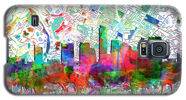 Austin Texas Abstract Panorama 7 Galaxy S5 Case