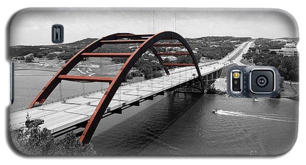 Austin Texas Pennybacker 360 Bridge Color Splash Black And White Galaxy S5 Case by Shawn O'Brien