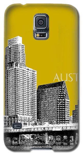 Austin Texas Skyline - Gold Galaxy S5 Case by DB Artist