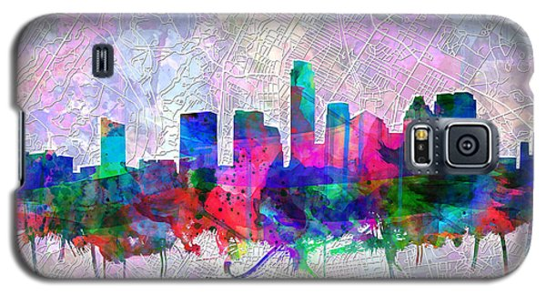 Austin Texas Skyline Watercolor 2 Galaxy S5 Case