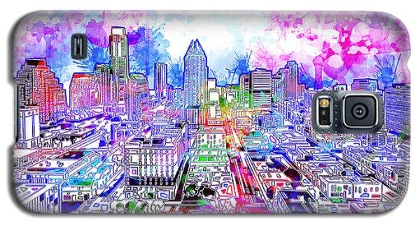 Austin Texas Watercolor Panorama Galaxy S5 Case
