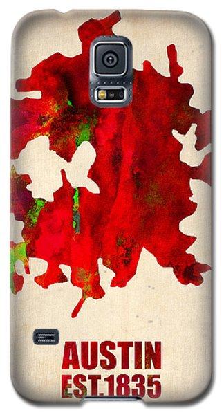 Austin Watercolor Map Galaxy S5 Case by Naxart Studio