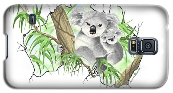 Koala Galaxy S5 Case - Australia by Veronica Minozzi