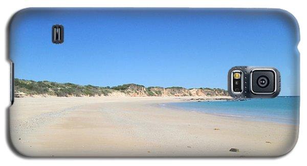 Galaxy S5 Case featuring the photograph Australian Beach by Tony Mathews