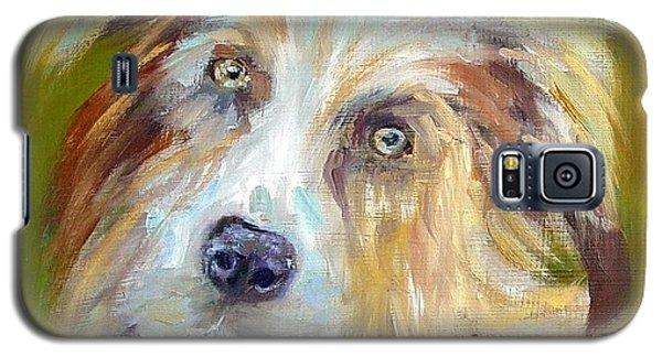 Galaxy S5 Case featuring the painting Australian Shepherd by Carol Berning