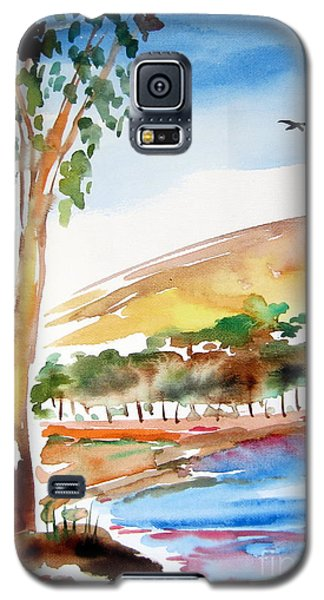 Galaxy S5 Case featuring the painting Australian Trees by Roberto Gagliardi