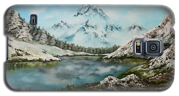Galaxy S5 Case featuring the painting Austrian Lake by Jean Walker