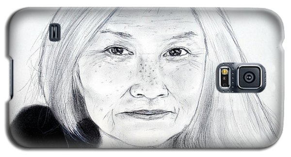 Author And Activist Maxine Hong Kingston Galaxy S5 Case by Jim Fitzpatrick