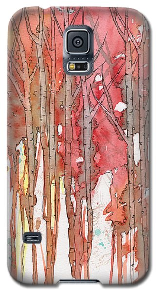 Galaxy S5 Case featuring the painting Autumn Abstract No.1 by Rebecca Davis