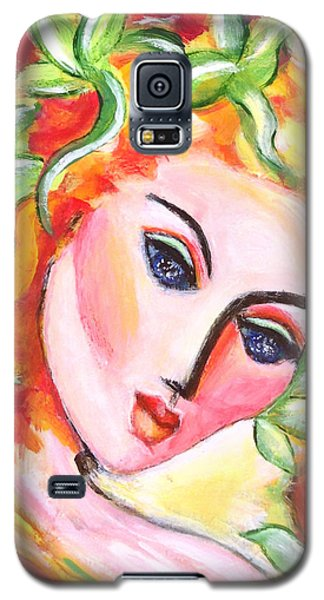 Galaxy S5 Case featuring the painting Autumn by Anya Heller