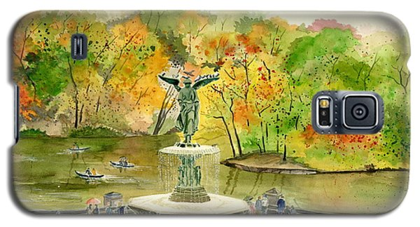 Autumn At Central Park Ny Galaxy S5 Case by Melly Terpening