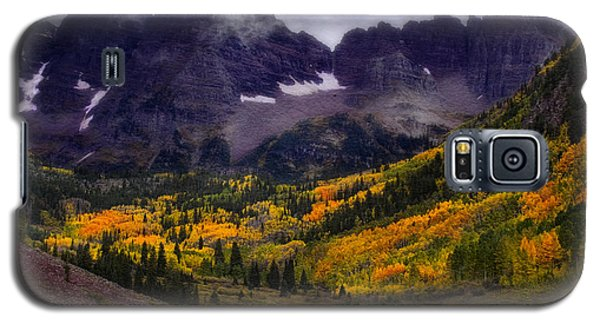 Galaxy S5 Case featuring the photograph Autumn At Maroon Bells by Ellen Heaverlo