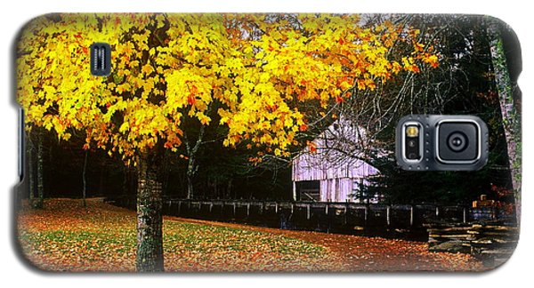 Galaxy S5 Case featuring the photograph Autumn At Old Mill by Rodney Lee Williams