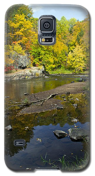 Autumn At The Dells Of The Eau Claire Galaxy S5 Case by Judy  Johnson