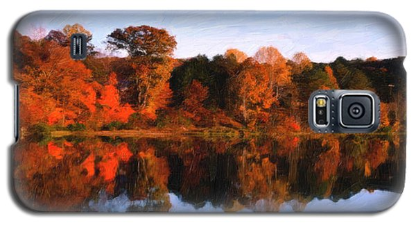 Galaxy S5 Case featuring the digital art Autumn At The Lake by Spyder Webb