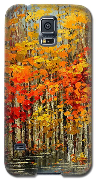 Galaxy S5 Case featuring the painting Autumn Banners by Tatiana Iliina