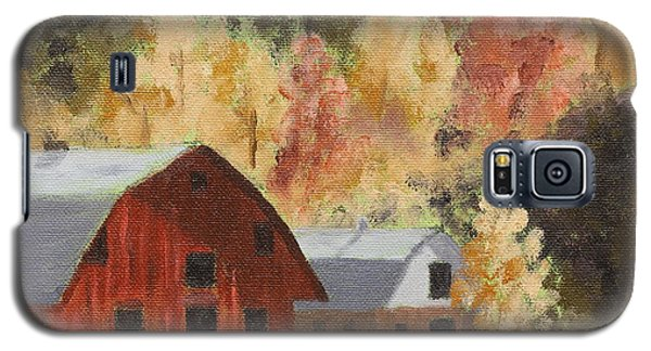 Autumn Barn Duo Galaxy S5 Case by Alan Mager