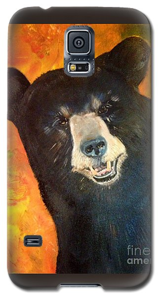 Galaxy S5 Case featuring the painting Autumn Bear by Jan Dappen