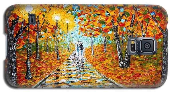 Autumn Beauty Original Palette Knife Painting Galaxy S5 Case by Georgeta  Blanaru