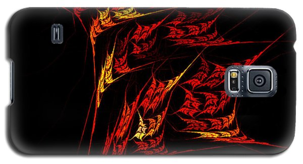 Galaxy S5 Case featuring the digital art Autumn Blaze by R Thomas Brass