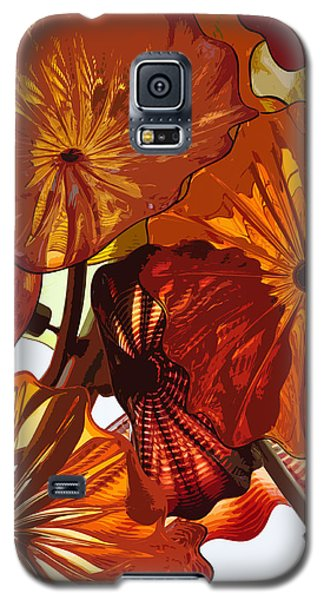 Galaxy S5 Case featuring the digital art Autumn Burst by Kirt Tisdale