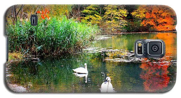 Autumn By The Swan Lake Galaxy S5 Case