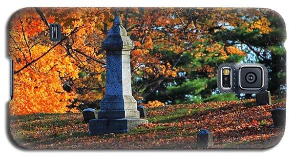 Autumn Cemetery Visit Galaxy S5 Case